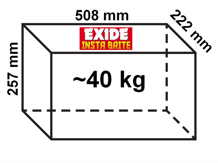 Exide Insta brite Inverter Battery dimensions