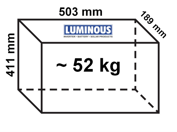 Luminous Inverter Battery dimensions
