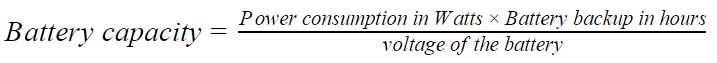 Battery capacity formula