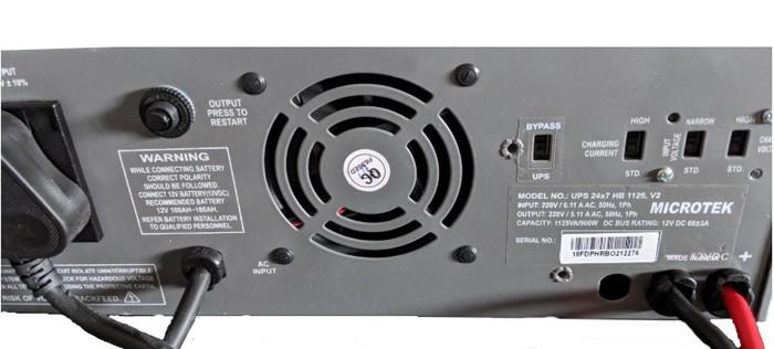 Microtek Ups 24×7 Hb 1125Va Hybrid Sinewave Inverter back