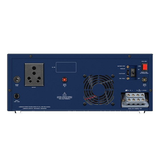 Luminous Solar NXG hybrid Inverter 1800 24V UPS inverter back 02