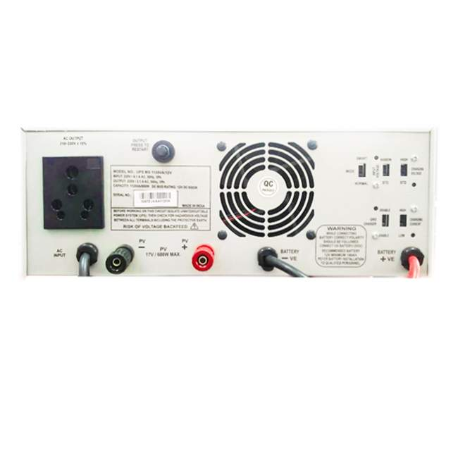 Microtek M-SUN Solar UPS 1135VA 12V inverter back