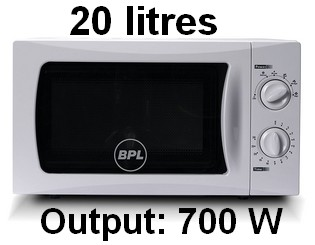 BPL 20 L Solo Microwave Oven (BPLMW20S1G, White) 001