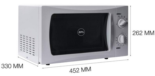 BPL 20 L Solo Microwave Oven (BPLMW20S1G, White) size
