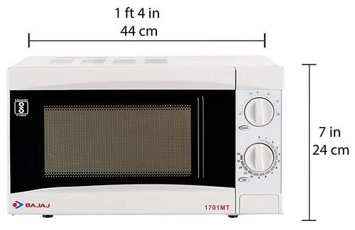 Bajaj 17 L Solo Microwave Oven (1701 MT, White) Volume