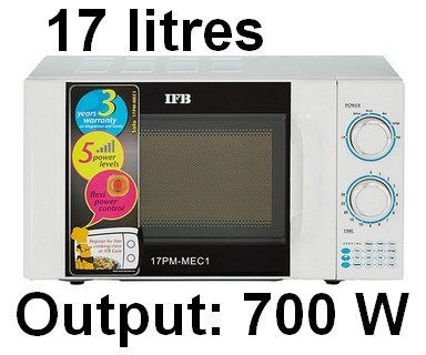IFB 17L Solo Microwave Oven 17PM MEC 1 White 002