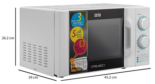 IFB 17L Solo Microwave Oven 17PM MEC 1 White Dimensions