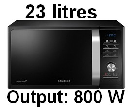 Samsung 23 L Solo Microwave Oven (MS23F301TAKTL, Black) 001