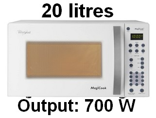 Whirlpool 20 L Solo Microwave Oven (Magicook 20SW, White) 001