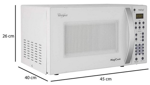 Whirlpool 20 L Solo Microwave Oven (Magicook 20SW, White) size