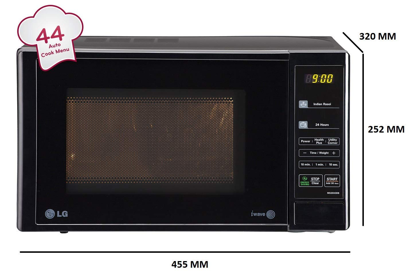 LG 20 L Solo Microwave Oven (MS2043DB, Black) 02