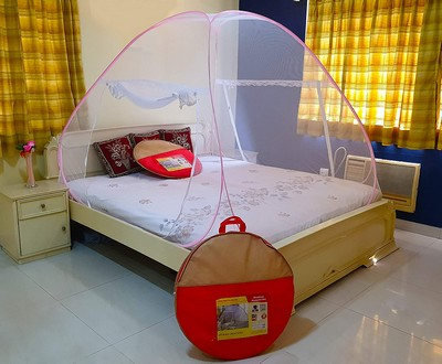 Athenacreations Foldable Mosquito Net for Double Bed 02.2